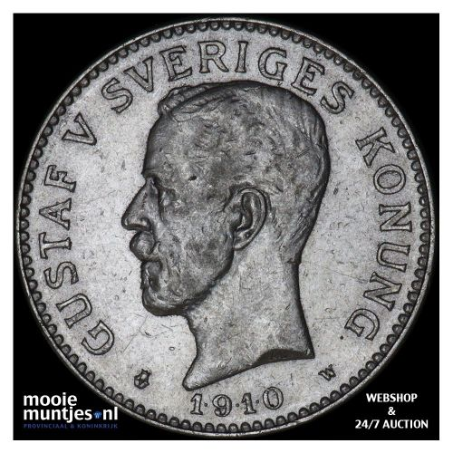 2 kronor - Sweden 1910 (KM 787) (kant A)