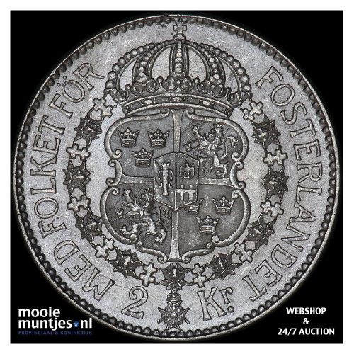 2 kronor - Sweden 1913 (KM 787) (kant B)