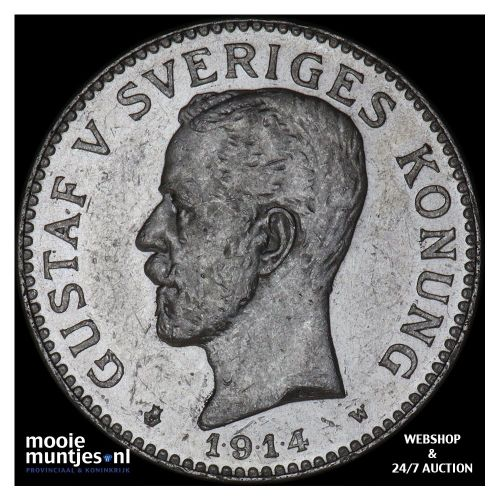2 kronor - Sweden 1914 (KM 787) (kant A)