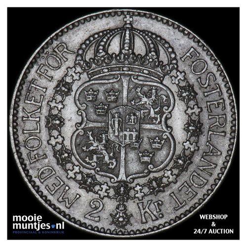 2 kronor - Sweden 1922 (KM 787) (kant B)