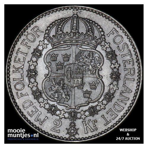 2 kronor - Sweden 1926 (KM 787) (kant B)