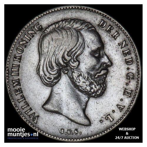 ½ gulden - Willem III - 1858 (kant B)