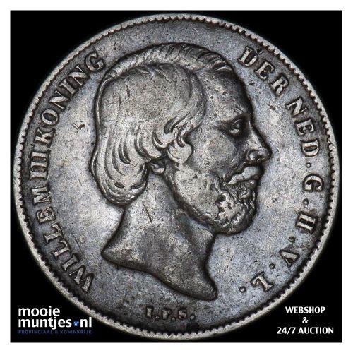 ½ gulden - Willem III - 1862 (kant B)
