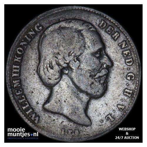 ½ gulden - Willem III - 1864 (kant B)