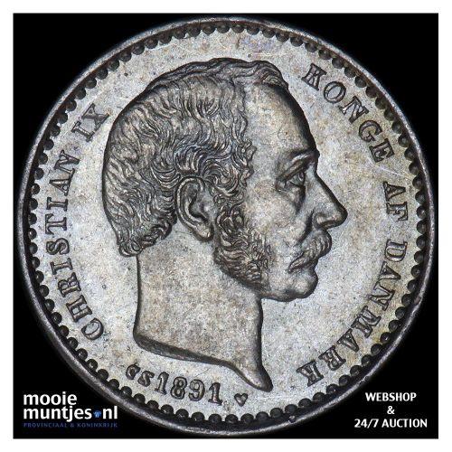 25 ore - Denmark 1891 (KM 796.1) (kant A)