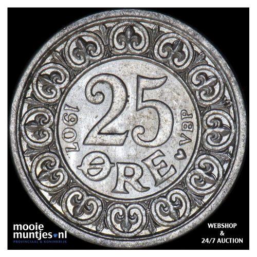 25 ore - Denmark 1907 (KM 808) (kant A)