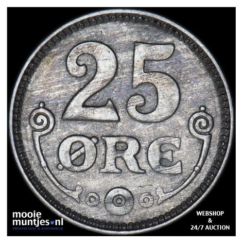 25 ore - Denmark 1921 (KM 815.2a) (kant B)