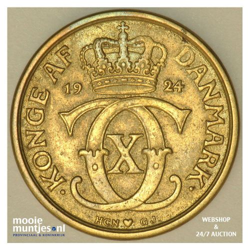 1/2 krone - Denmark 1924 (KM 831.1) (kant A)
