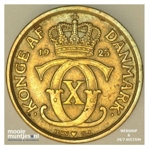 1/2 krone - Denmark 1925 (KM 831.1) (kant A)