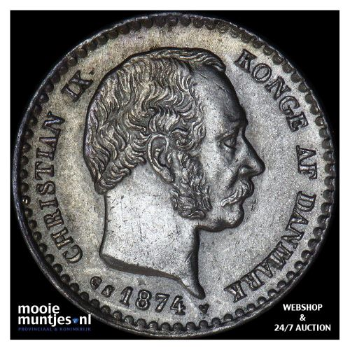 10 ore - Denmark 1874 (KM 795.1) (kant A)