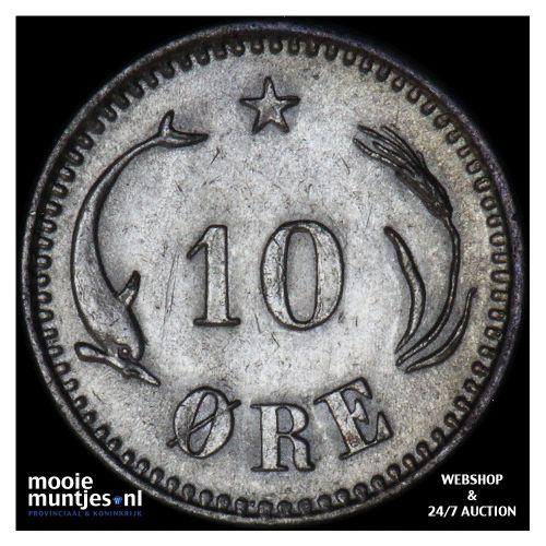 10 ore - Denmark 1874 (KM 795.1) (kant B)