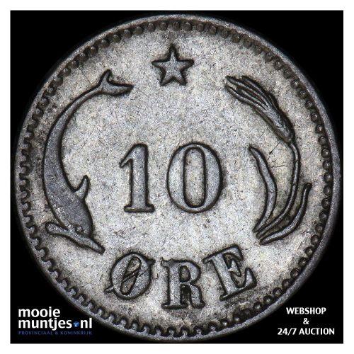 10 ore - Denmark 1875 (KM 795.1) (kant B)