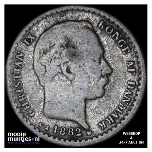10 ore - Denmark 1882 (KM 795.1) (kant A)