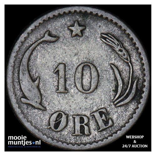 10 ore - Denmark 1882 (KM 795.1) (kant B)