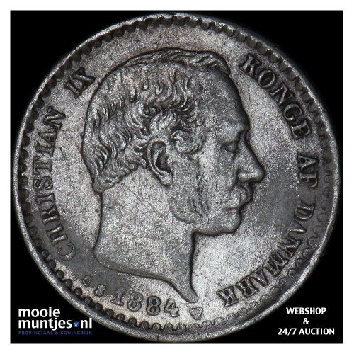 10 ore - Denmark 1884 (KM 795.1) (kant A)