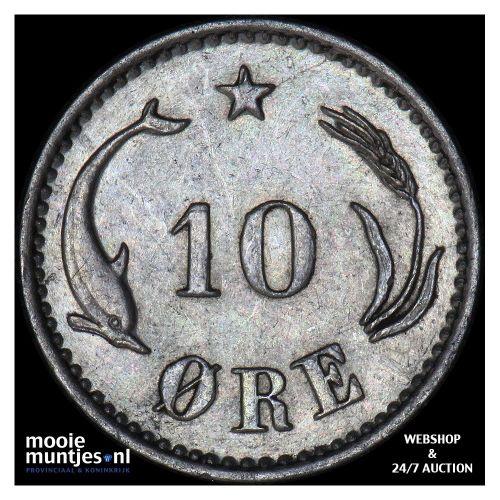 10 ore - Denmark 1889 (KM 795.1) (kant B)