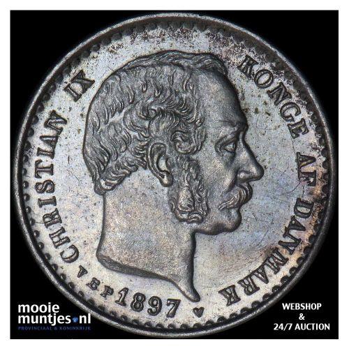 10 ore - Denmark 1897 (KM 795.2) (kant A)