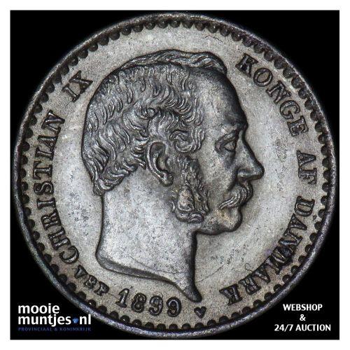 10 ore - Denmark 1899 (KM 795.2) (kant A)