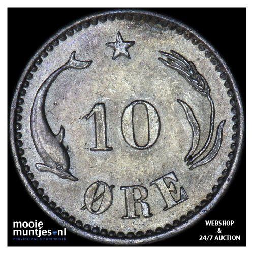 10 ore - Denmark 1899 (KM 795.2) (kant B)