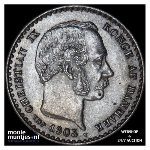 10 ore - Denmark 1905 (KM 795.2) (kant A)