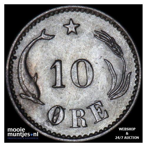 10 ore - Denmark 1905 (KM 795.2) (kant B)