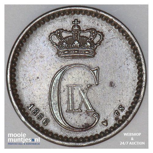 ore - Denmark 1886 (KM 792.1) (kant A)