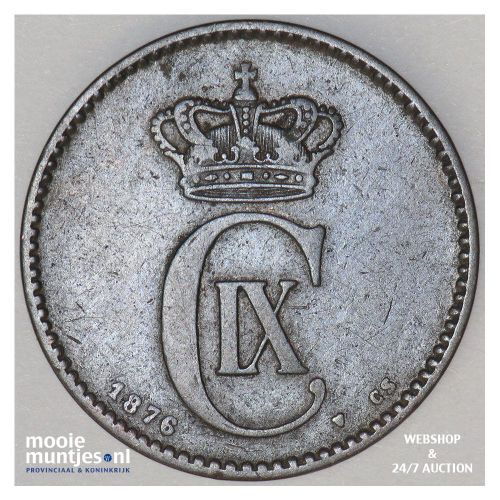 2 ore - Denmark 1876 (KM 793.1) (kant A)