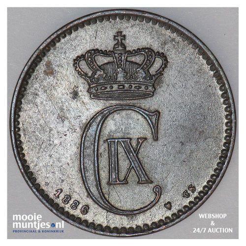 2 ore - Denmark 1886 (KM 793.1) (kant A)