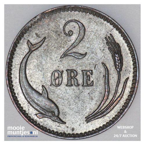 2 ore - Denmark 1886 (KM 793.1) (kant B)