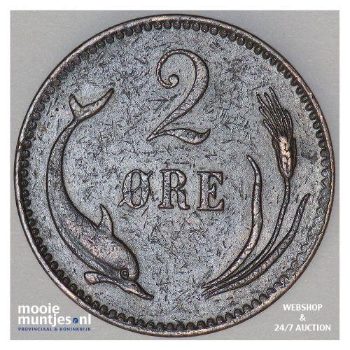 2 ore - Denmark 1887 (KM 793.1) (kant B)