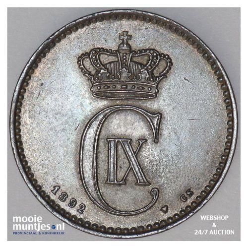 2 ore - Denmark 1892 (KM 793.1) (kant A)