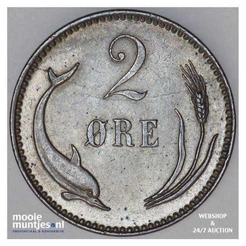 2 ore - Denmark 1892 (KM 793.1) (kant B)