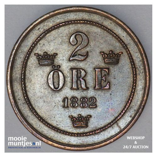 2 ore - Sweden 1882 (KM 746) (kant A)
