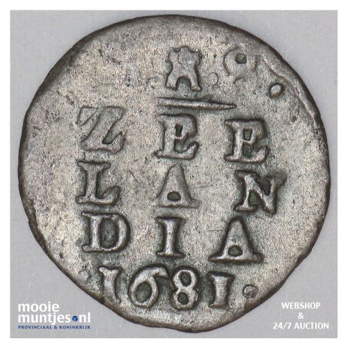 Zeeland - Stuiver - 1681 (kant A)