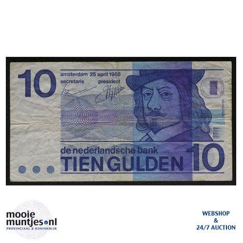 10 gulden  - 1968 (Mev. 49-1b / AV 37) (kant A)