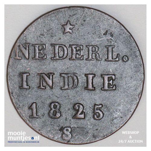 Nederlands-Indië - ½ Stuiver  - 1825 (kant A)