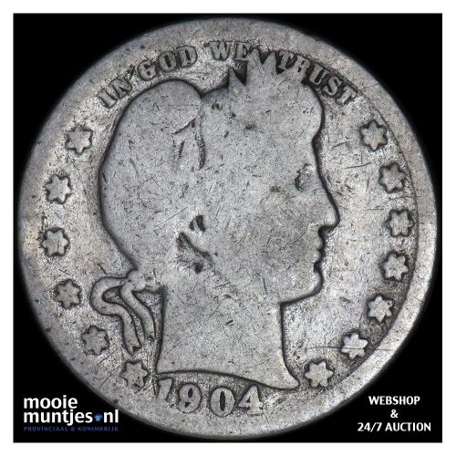 quarter - barber - United States of America 1904 (KM 114) (kant A)