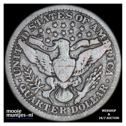 quarter - barber - United States of America 1908 D (KM 114) (kant B)
