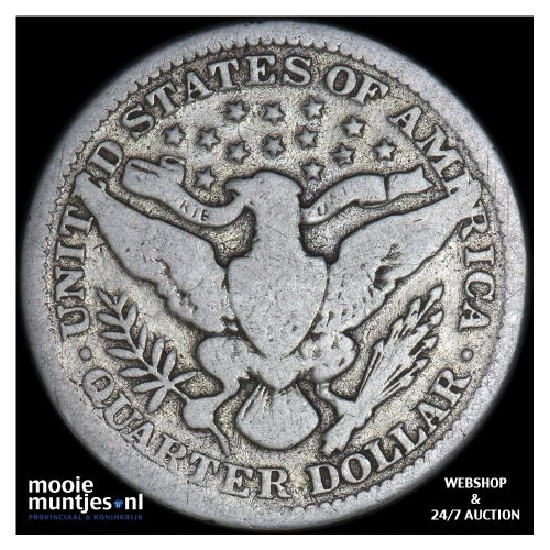 quarter - barber - United States of America 1911 (KM 114) (kant B)