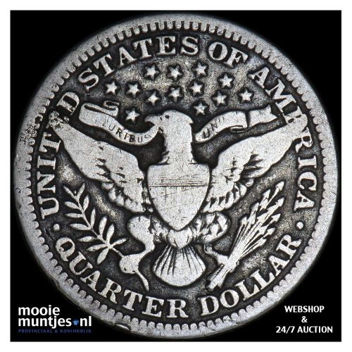 quarter - barber - United States of America 1915 (KM 114) (kant B)