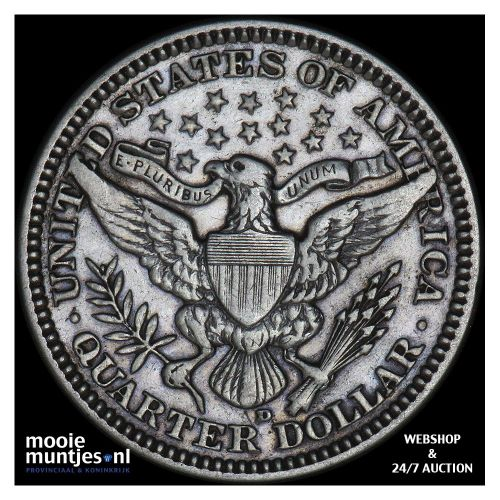 quarter - barber - United States of America 1916 D (KM 114) (kant B)