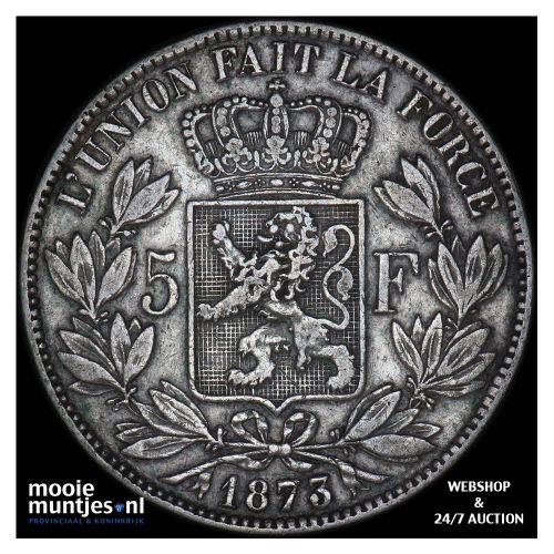 5 francs (5 frank) - Belgium 1873 (KM 24) (kant A)