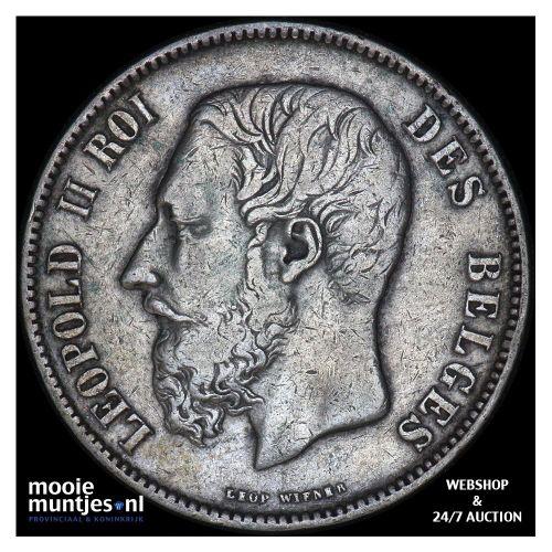 5 francs (5 frank) - Belgium 1873 (KM 24) (kant B)