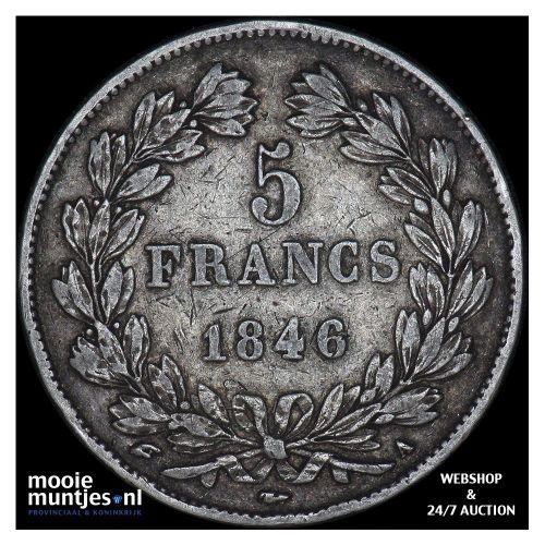 5 francs - France 1846 A (Paris) (KM 749.1) (kant A)