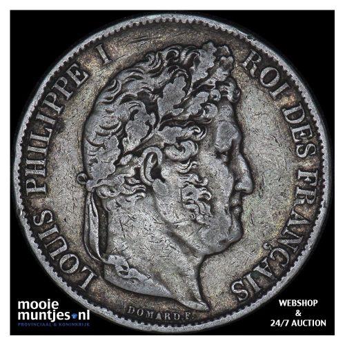 5 francs - France 1846 A (Paris) (KM 749.1) (kant B)
