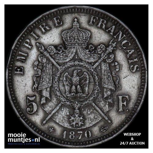 5 francs - France 1870 BB (Strasbourg) (KM 799.2) (kant A)