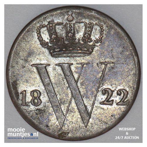 ½ cent - Willem I - 1822 Utrecht (kant A)