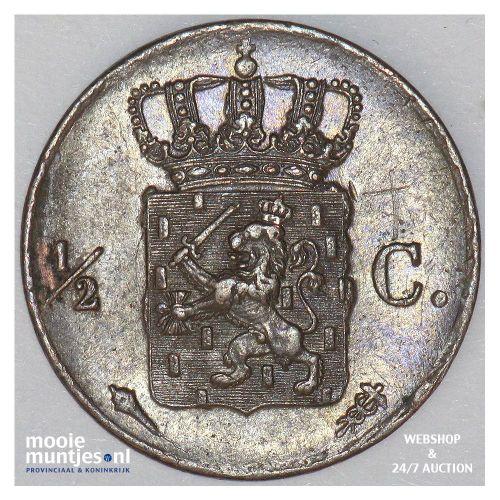 ½ cent - Willem I - 1822 Utrecht (kant B)