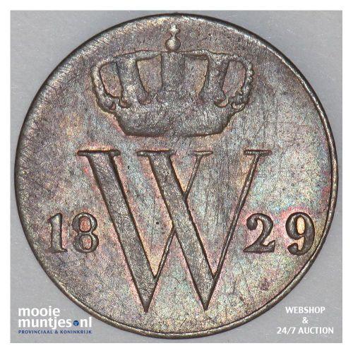 ½ cent - Willem I - 1829 Utrecht (kant A)