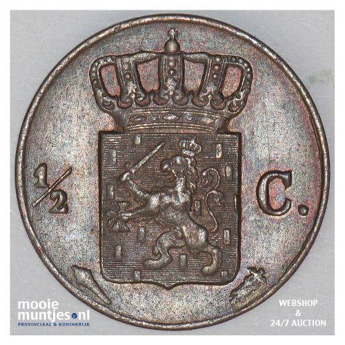½ cent - Willem I - 1829 Utrecht (kant B)